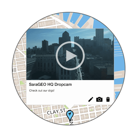 SaraGEO | Create maps of the people and places you care about most